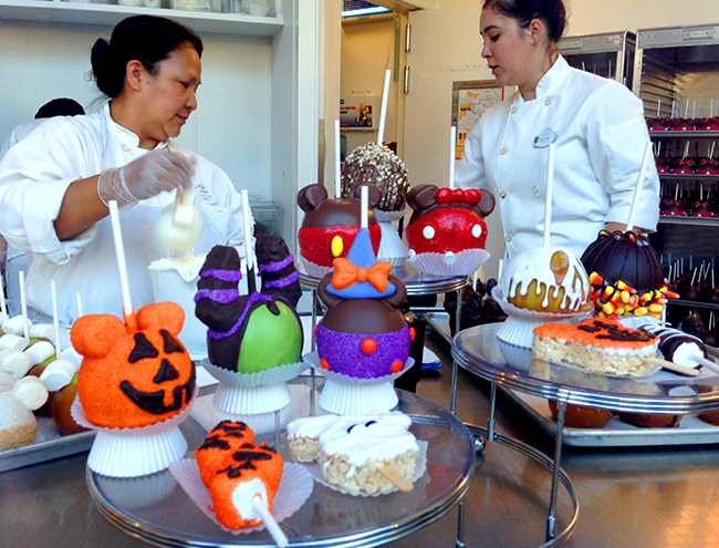 Disneyland Carmel Apples Halloween