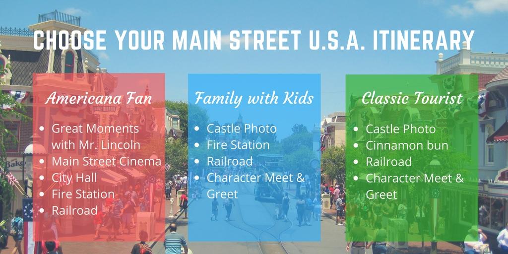 Main Street U.S.A. Itinerary