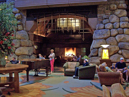 Grand Californian Hotel Fireplace