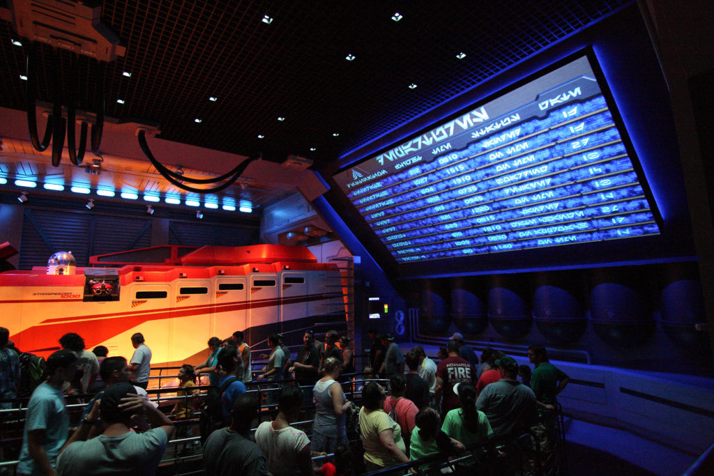 Disneyland Star Tours Queue